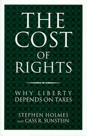 THE COST OF RIGHTS by Stephen Holmes