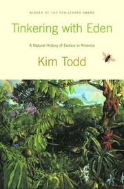 TINKERING WITH EDEN by Kim Todd