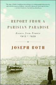 Book Cover for REPORT FROM A PARISIAN PARADISE