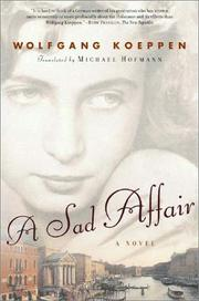 A SAD AFFAIR by Wolfgang Koeppen