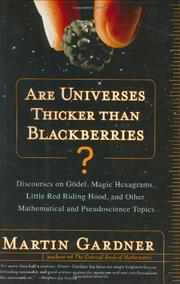 ARE UNIVERSES THICKER THAN BLACKBERRIES? by Martin Gardner