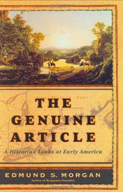 THE GENUINE ARTICLE by Edmund S. Morgan