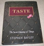 TASTE by Stephen Bayley