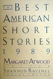THE BEST AMERICAN SHORT STORIES 1989 by Margaret Atwood