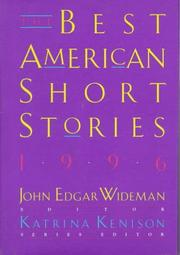 THE BEST AMERICAN SHORT STORIES 1996 by John Edgar Wideman