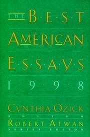 THE BEST AMERICAN ESSAYS 1998 by Cynthia Ozick