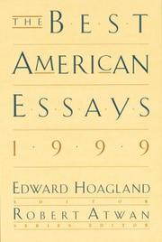 THE BEST AMERICAN ESSAYS 1999 by Edward Hoagland