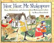 HEAR, HEAR, MR. SHAKESPEARE by Bruce Koscielniak