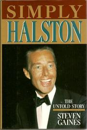 SIMPLY HALSTON by Steven Gaines