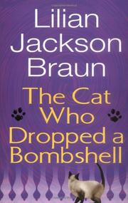 Cover art for THE CAT WHO DROPPED A BOMBSHELL
