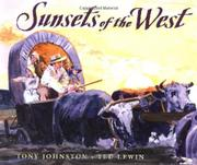 SUNSETS OF THE WEST by Tony Johnston