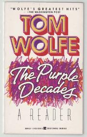 Cover art for THE PURPLE DECADES-A READER