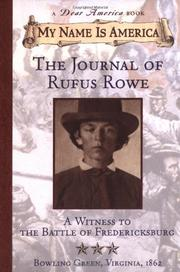 THE JOURNAL OF RUFUS ROWE by Sid Hite