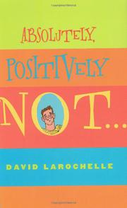 Cover art for ABSOLUTELY, POSITIVELY NOT