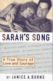 SARAH'S SONG by Janice A. Burns