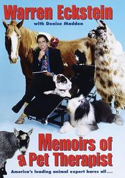 MEMOIRS OF A PET THERAPIST by Warren Eckstein