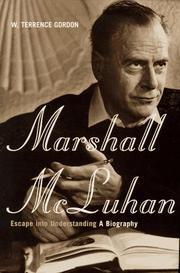 MARSHALL McLUHAN by W. Terrence Gordon