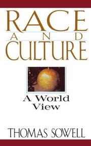RACE AND CULTURE by Thomas Sowell