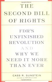 THE SECOND BILL OF RIGHTS by Cass R. Sunstein