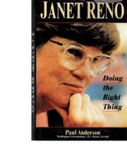 JANET RENO by Paul Anderson
