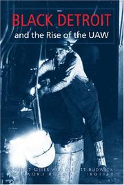 BLACK DETROIT AND THE RISE OF THE UAW by August & Elliott Rudwick Meier