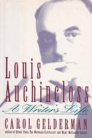 LOUIS AUCHINCLOSS by Carol Gelderman