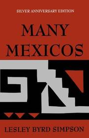 MANY MEXICOS by Lesley Byrd Simpson