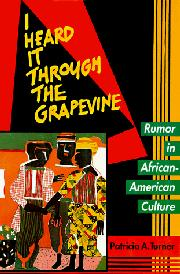 I HEARD IT THROUGH THE GRAPEVINE by Patricia A. Turner