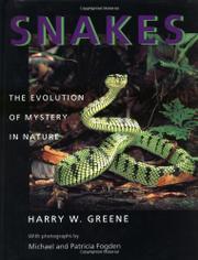 SNAKES by Harry W. Greene