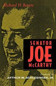 SENATOR JOE MCCARTHY by Richard Rovere