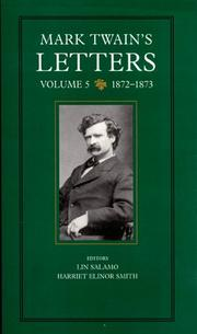 Cover art for MARK TWAIN'S LETTERS
