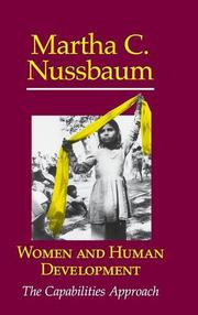 WOMEN AND HUMAN DEVELOPMENT by Martha C. Nussbaum