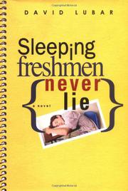 Book Cover for SLEEPING FRESHMEN NEVER LIE