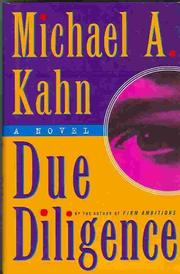 DUE DILIGENCE by Michael A. Kahn
