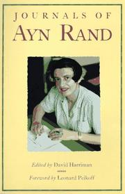 JOURNALS OF AYN RAND by David Harriman