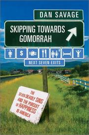 SKIPPING TOWARDS GOMORRAH by Dan Savage