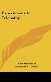 EXPERIMENTS IN TELEPATHY by Ran Warcollier