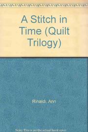 A STITCH IN TIME by Ann Rinaldi