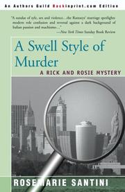 A SWELL STYLE OF MURDER by Rosemarie Santini