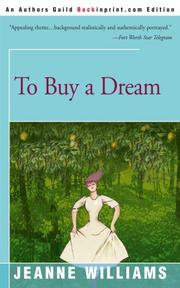 TO BUY A DREAM by Jeanne Williams