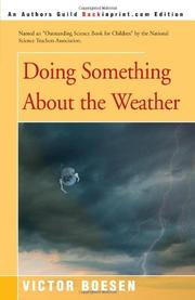 DOING SOMETHING ABOUT THE WEATHER by Victor Boesen