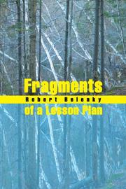 FRAGMENTS OF A LESSON PLAN by Robert Belenky