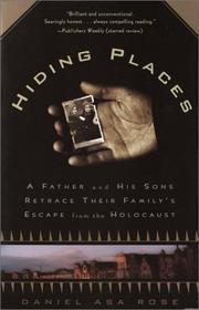 HIDING PLACES by Daniel Asa Rose