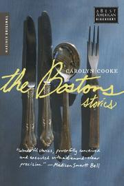 THE BOSTONS by Carolyn Cooke
