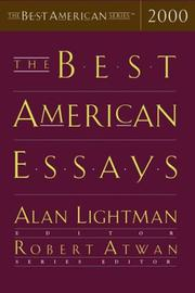 THE BEST AMERICAN ESSAYS 2000 by Alan Lightman