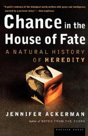 CHANCE IN THE HOUSE OF FATE by Jennifer G. Ackerman
