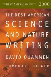 THE BEST AMERICAN SCIENCE AND NATURE WRITING by David Quammen