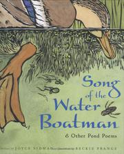 Cover art for SONG OF THE WATER BOATMAN
