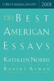 THE BEST AMERICAN ESSAYS 2001 by Kathleen Norris