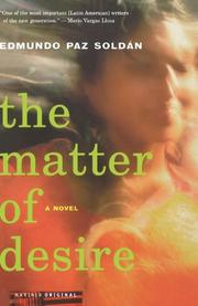 Book Cover for THE MATTER OF DESIRE